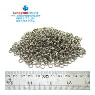 Split Ring Curve 4.5mm Isi 12pcs