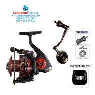 Reel Kenzi Navy 5000 Bonus Tas Power Handle