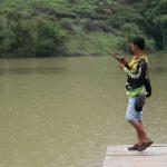 Casting di Telaga Claket Riverside Sendang Ijo, Wonogiri