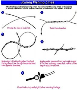 Cara menyambung senar tali pancing