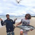 Mancing ikan menggunakan drone