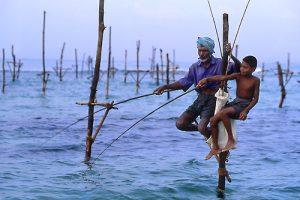 Teknik memancing unik dari Sri Lanka