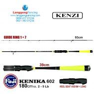 Joran UL Kenzi Kenika 2-5lb 180cm Fuji Guide PVC